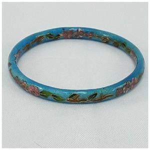 "iqclothessavvy2 Jewelry - Floral Vines Cloisonne"" bangle bracelet,"